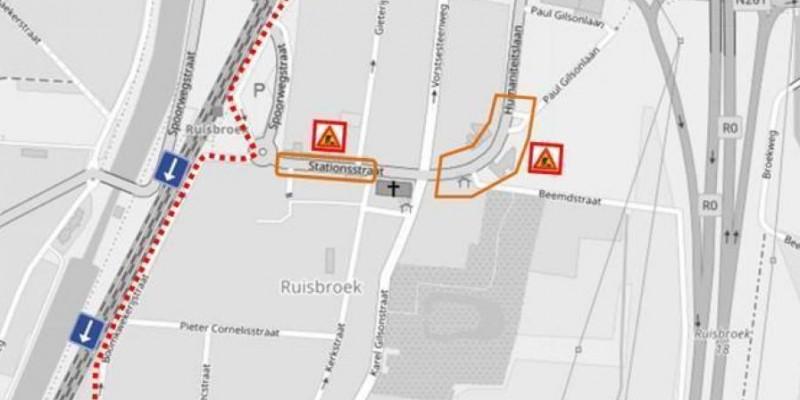 Wegenwerken Ruisbroek