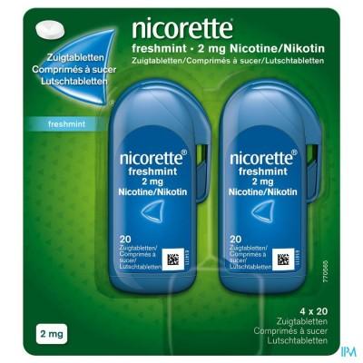 Nicorette Freshmint Comp A Sucer 80x2mg