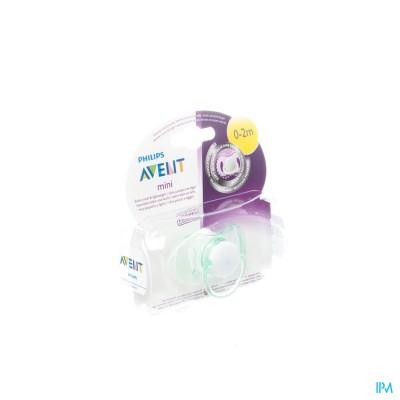 Philips Avent Mini Fopspeen Unisex 0- 2m Single Pack SCF151/00