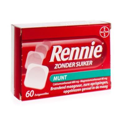 RENNIE ZONDER SUIKER/SANS SUCRE PASTILLES 60