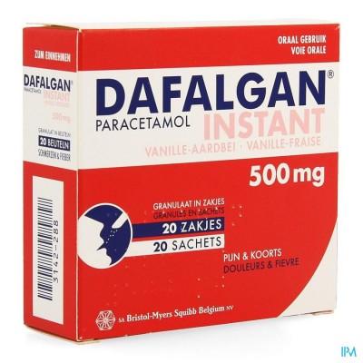 Dafalgan Instant Vanille Fraise Gr Sach 20x 500mg