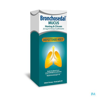 Bronchosedal Mucus Honing Citroen 300ml 20mg/ml