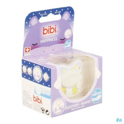 Bibi Sucette Dental Glow In The Dark 6-16m