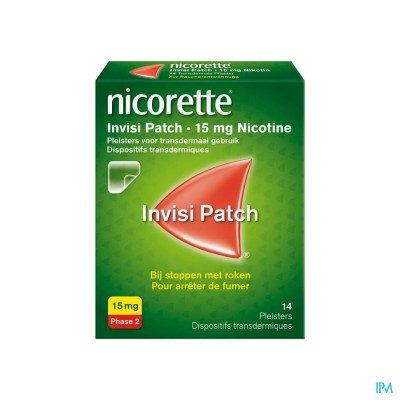 NICORETTE INVISI 15 MG PATCH 14