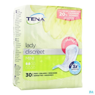 TENA LADY DISCREET MINI 30 760322