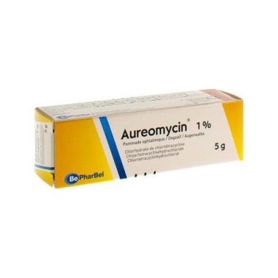 AUREOMYCINE UNG OPHT 1 X 5 G 1%