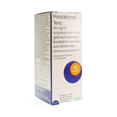 PARACETAMOL TEVA 40MG/ML ORALE SUSPENSIE 85ML