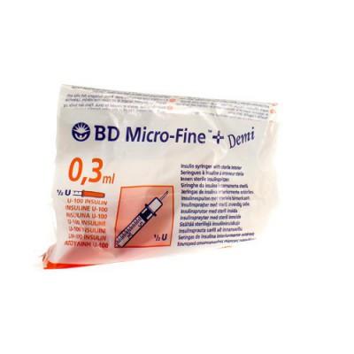 BD MICROFINE+ SER.INS.DEMI 0,3ML 30G 8MM 10 324826