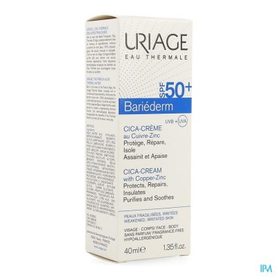 Uriage Bariederm Cica Creme Ip50+ 40ml