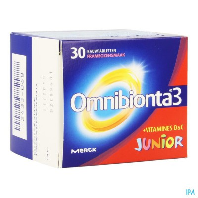 Omnibionta-3 Junior Framboise Comp A Croquer 30