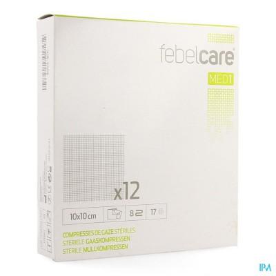 Febelcare Gaaskompres Steriel 10,0x10,0cm 12x1