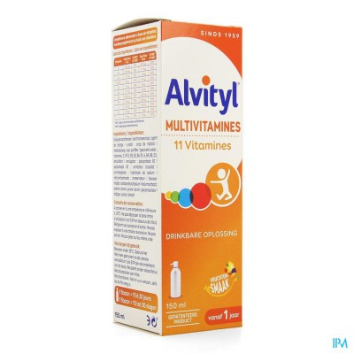 ALVITYL MULTIVITAMINES SOL BUV. FL 150ML