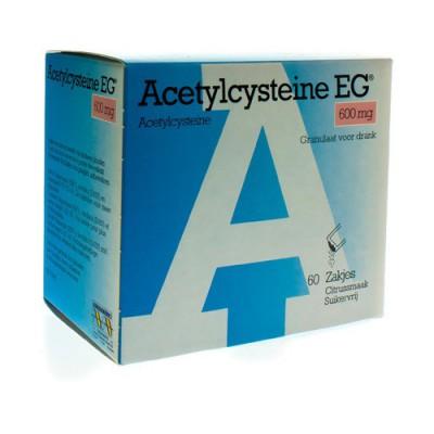 ACETYLCYSTEINE EG 600MG GRAN. SOL BUV. SACH 60