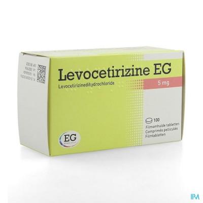 LEVOCETIRIZINE EG 5 MG COMP PELL 100
