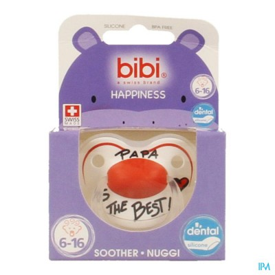 Bibi Sucette Hp Dental Papa Is The Best 6-16m