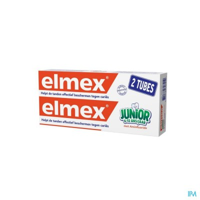 ELMEX JUNIOR DENTIF TUBE 2 X 75ML