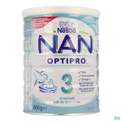 Nan Optipro 3 +1ans Lait Croissance Pdr 800g