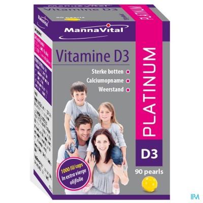 MANNAVITA VITAMINE D3 PLATINUM CAPS 90