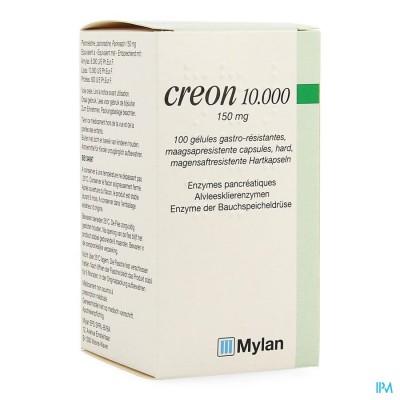 Creon 10000 Caps Maagsapresist Hard 100 X 150mg