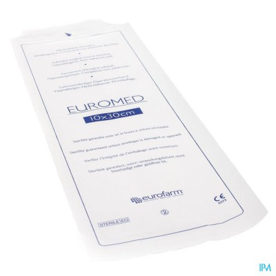 Euromed 10x30cm 1 Pansement D'ile Adh Steril