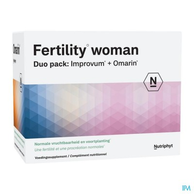 Fertility woman Duo 60 comp Improvum + 60 gélules Omarin