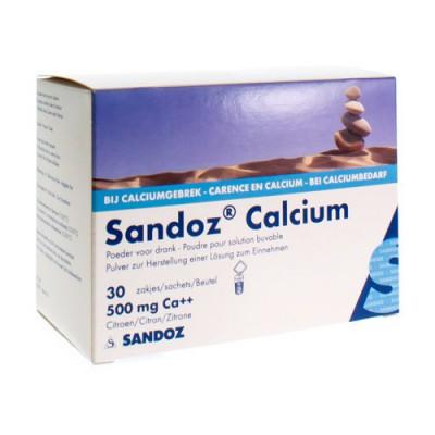 SANDOZ CALCIUM PULV SACH 30X500MG