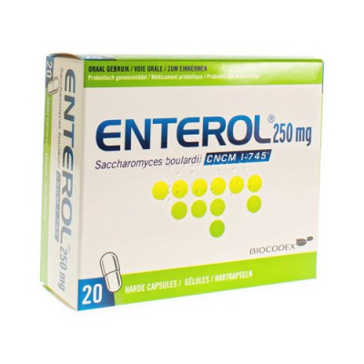 ENTEROL 250 MG CAPS HARDE DUR 20 X 250 MG