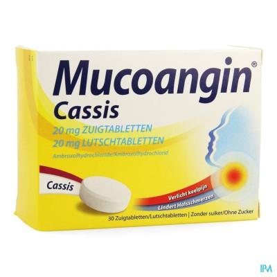 Mucoangin Zwarte Bes Zuigtabletten 30x20mg