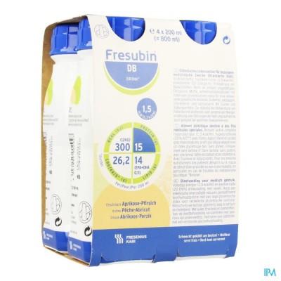 Fresubin Db Drink Peche-abricot Easybot.4x200ml