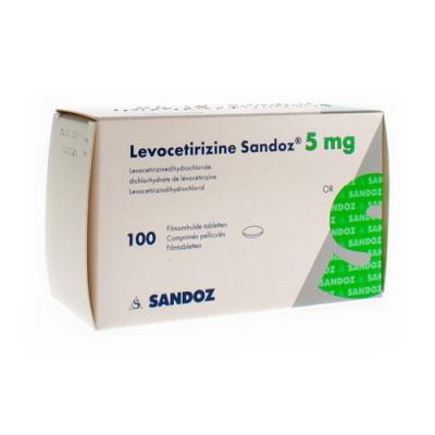 LEVOCETIRIZINE SANDOZ 5 MG COMP ENROB.100 X 5 MG