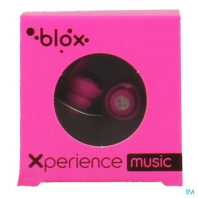 BLOX XPERIENCE MUSIC BOUCH.OR. ROSE FLUO 1 PAIRE