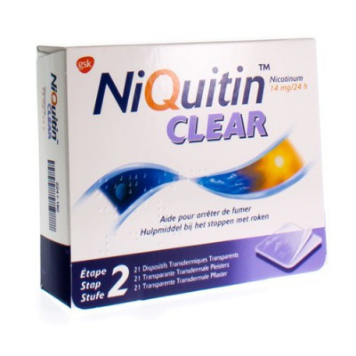 NIQUITIN CLEAR PATCHES 21 X 14 MG