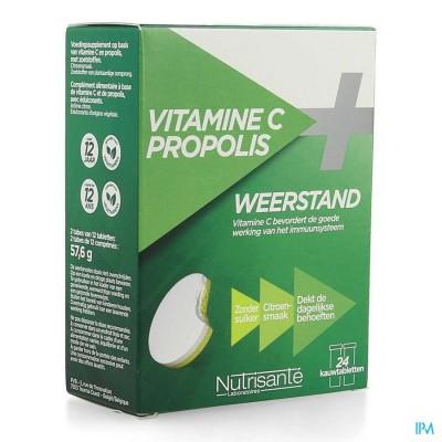 Vitamine C+propolis Kauwtabl Tube 2x12