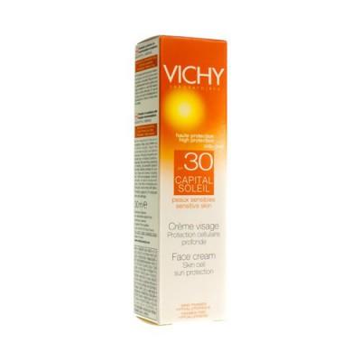 VICHY CAP SOL IP30 CR VISAGE PEAU SENS 30ML