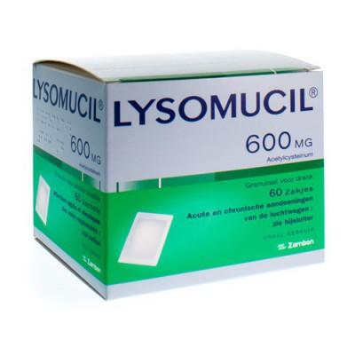 LYSOMUCIL 600 GRAN SACH 60 X 600 MG