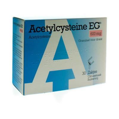 ACETYLCYSTEINE EG 600MG GRAN. SOL BUV. SACH 30