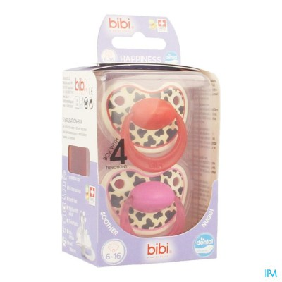 Bibi Happiness Sucette Dental Tiger 6-16m Duo