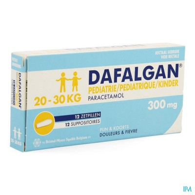 Dafalgan Pediatrie 300mg Suppo 12