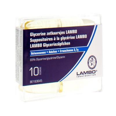 GLYCERINE LAMBO SUPPO CONIQUE AD 10