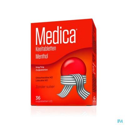 Medica Comprimes Gorge Menthol 36 Ud