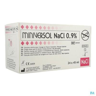 Nacl 0,9% 45ml Miniversol Ud Spoelen Aguettant 24