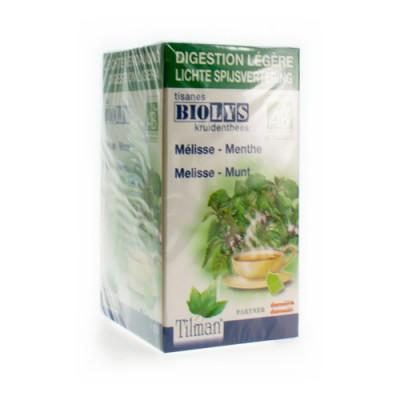 BIOLYS MELISSE-MENTHE BIO TEA-BAGS 20
