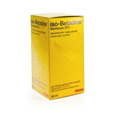 ISO BETADINE DERMIQUE 10% SOL FL 50ML