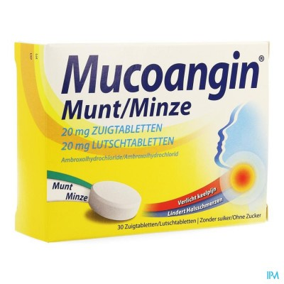 Mucoangin Menthe Past A Sucer 30x20mg