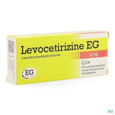 LEVOCETIRIZINE EG 5 MG COMP PELL 20