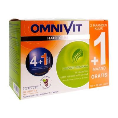 OMNIVIT VITA HAAR TABL 120+60 GRATIS PROMO