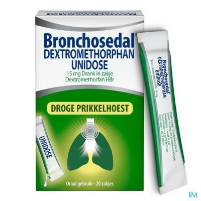 Bronchosedal Dextromethor.15mg Opl Zakje 20x5ml Ud