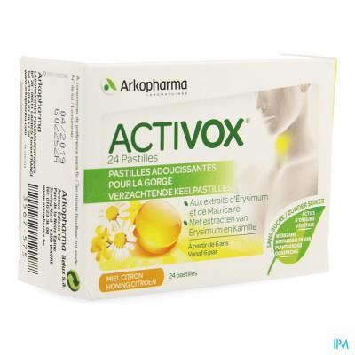 Activox Adouccissant Gorge Miel Citron Past 24