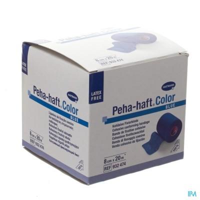 Peha-haft Blauw Lf 8cmx20m 1 P/s