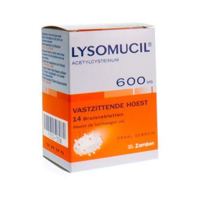 LYSOMUCIL 600 COMP EFF 14 X 600 MG